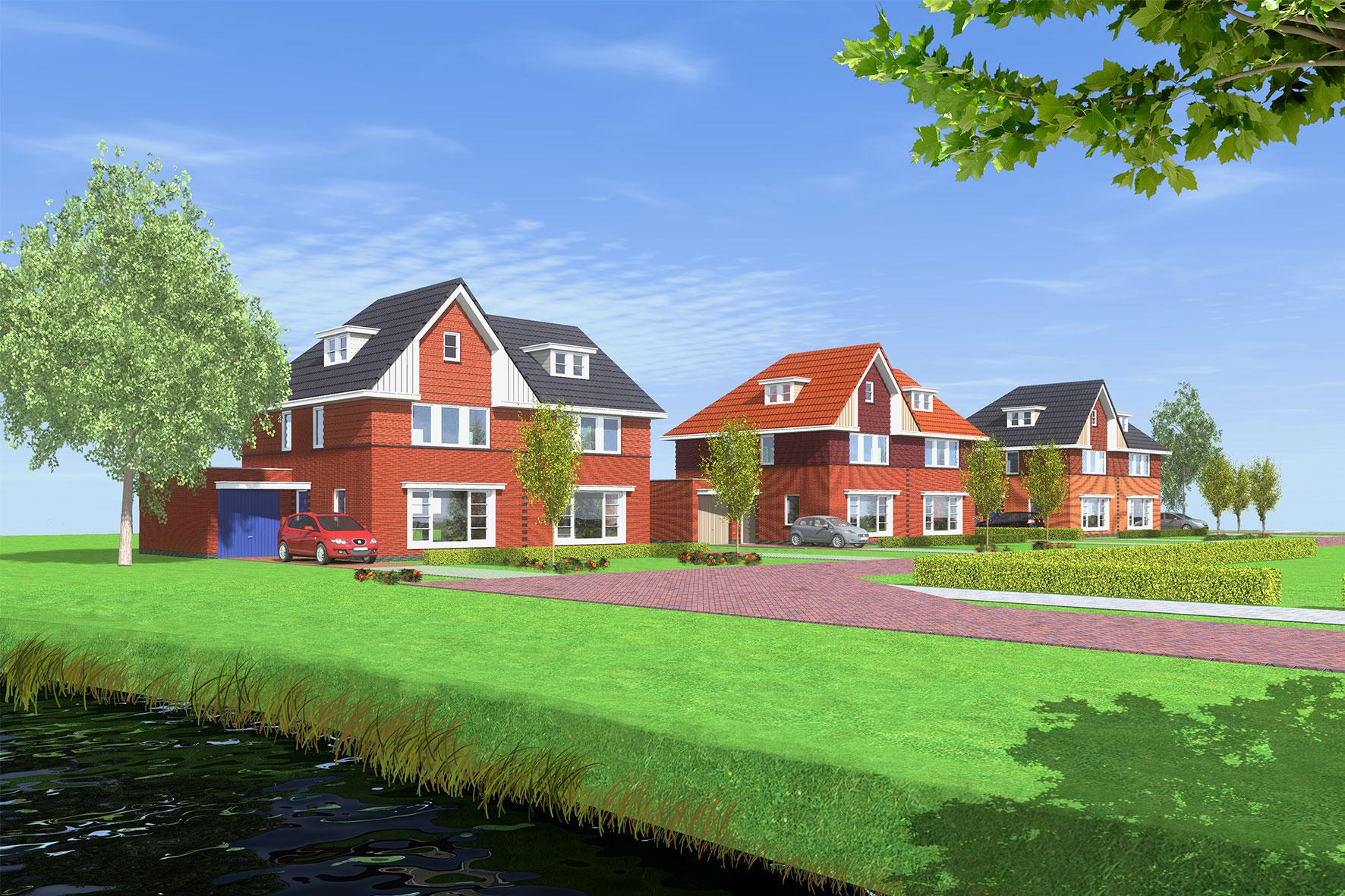 "10 woningen plan ""De Witte Dam"" te Westwoud"